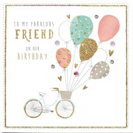 To my Fabulous Friend on Her Birthday Card - Morello Hotchpotch London