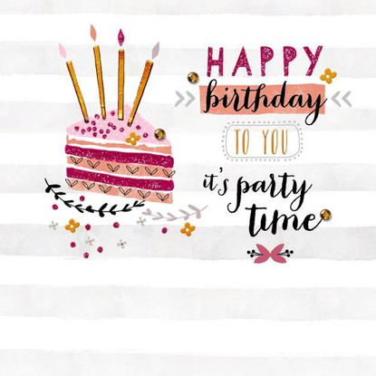 Happy Birthday to You, Its Party Time Card - Morello Hotchpotch London