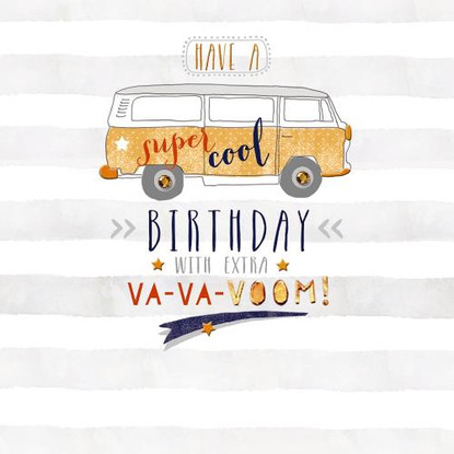 Have a Super Cool Birthday, with Extra Va-Va-Voom Card - Morello Hotchpotch London