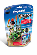 Playmobil – Green Interactive Cannon With Pirate Captain 6162 Pirates