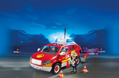 Playmobil - Fire Chief's Car With Lights And Sound 5364 Fire Brigade