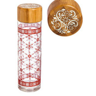 Cypress Home Warmth of the Season Glass Water Bottle with Bamboo Lid, 19 ounces