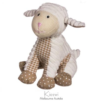 "Decorative Lil' Sheep corduroy & Cotton 10"" Stuffed Animal"
