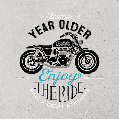Enjoy the RIde Motor Bike Happy Birthday Card -  Hotchpotch London