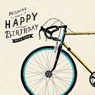 Bicycle Happy Birthday Card -  Hotchpotch London