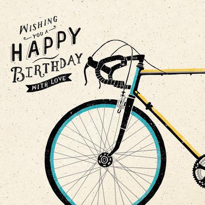 Bicycle Happy Birthday Card -  Hotchpotch London