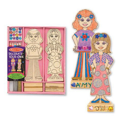 Melissa & Doug Decorate-Your-Own - Wooden Fashion Dolls