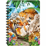 3D LiveLife Jotter - Sleeping Big Cats