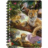 3D LiveLife Jotter - Tree Top Leopards