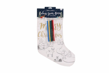 Colour Your Own Christmas Stocking - Deer