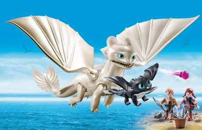 Playmobil - How to Train Your Dragon 3 - Light Fury with Kids 70038 (PMB70038)