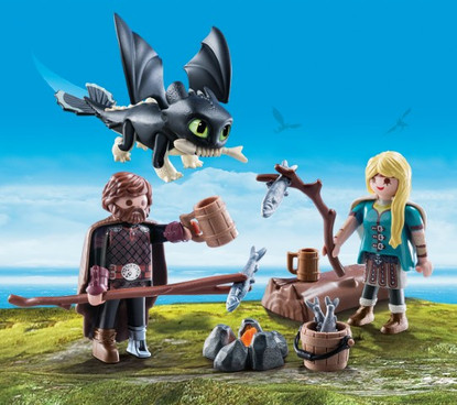 Playmobil - How to Train Your Dragon 3 - Hiccup, Astrid and Dragon 70040