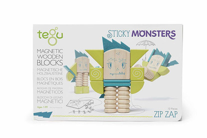 Tegu Magnetic Sticky Mnsters Zip Zap box