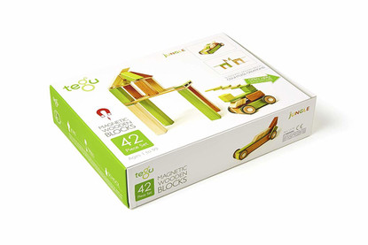 Tegu Magnetic Wooden Blocks 42 pieces Jungle boxed