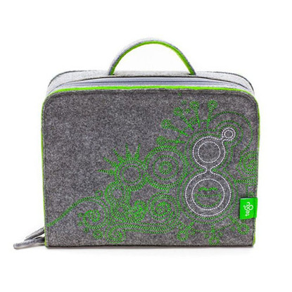 Tegu Magnetic Wooden Blocks Felt Travel Tote