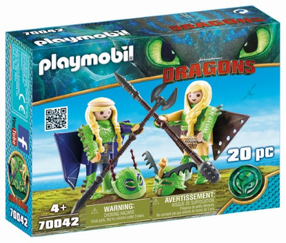 Playmobil - How to Train Your Dragon 3 - Raffnut and Taffnut 70042