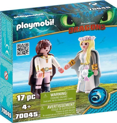 Playmobil - How to Train Your Dragon 3 - Bridal couple Hiccup and Astrid 70045 box