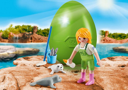 Zookeeper with Seal Pups Egg (Easter Egg) 9418