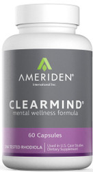 ClearMind - 60 Capsules, 275 mg each capsule  (Contains Water Only Freeze Dried Siberian Rhodiola rosea, Superior Rhododendron caucasicum, & Ribes nigrum)