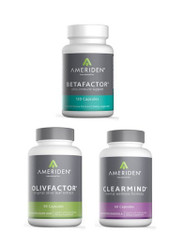 IMMUNI-TEAM PACKAGE A:   1 BOTTLE OF EACH BETAFACTOR, OLIVFACTOR & CLEARMIND RETAIL $150.85		25% $113.14