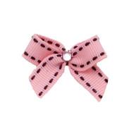 Mini Pink Kisses Dog Hair Bow