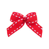 Mini Red Hot Dog Hair Bow