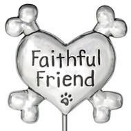 Faithful Friend Pet Memorial Garden Stake