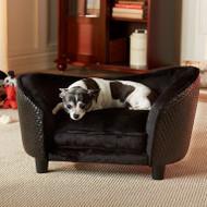 Ultra Plush Snuggle Bed-Basketweave | Black