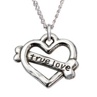 True Love Heart Sterling Silver Necklace