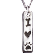 Love My Dog Sterling Silver Necklace