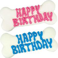 Happy Birthday Pink or Blue Dog Bone