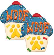Woof Cupcake Dog Cookies | Blue