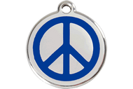 Enamel Peace Sign ID Tag | 10 Colors