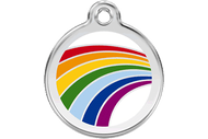 Enamel Dog ID Tag | Rainbow