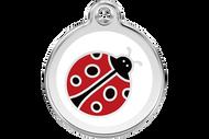 Enamel Dog ID Tag | Lady Bug