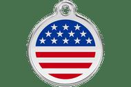 Enamel Dog ID Tag | American Flag