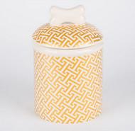 Gold Trellis Treat Jar