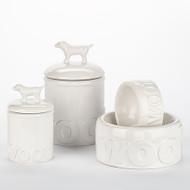 Woof Bowl + Treat Jar Set