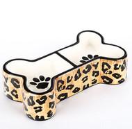 Leopard Bone Shaped Bowl