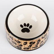 Leopard Dog Bowl