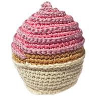Organic Cotton Dog Toy | Pink Cupcake