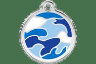 Enamel Dog ID Tag | Camo Blue