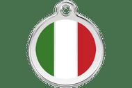 Enamel Dog ID Tag | Italian Flag