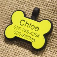 Silent Dog ID Tag | Bone Yellow