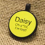Silent Dog ID Tag | Circle Yellow