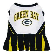 Green Bay Packers Dog  Cheerleader Dress