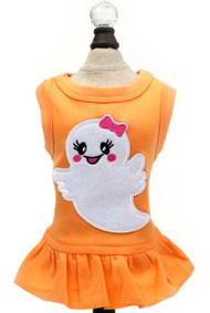 Ms. Boo Ghost Dog Tank Dress | Orange