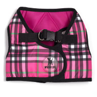 Sidekick Harness | Printed Hot Pink Plaid