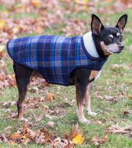 Alpine Dog Jacket | Grey Plaid