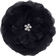 Black Buttercup Bling Collar Bud